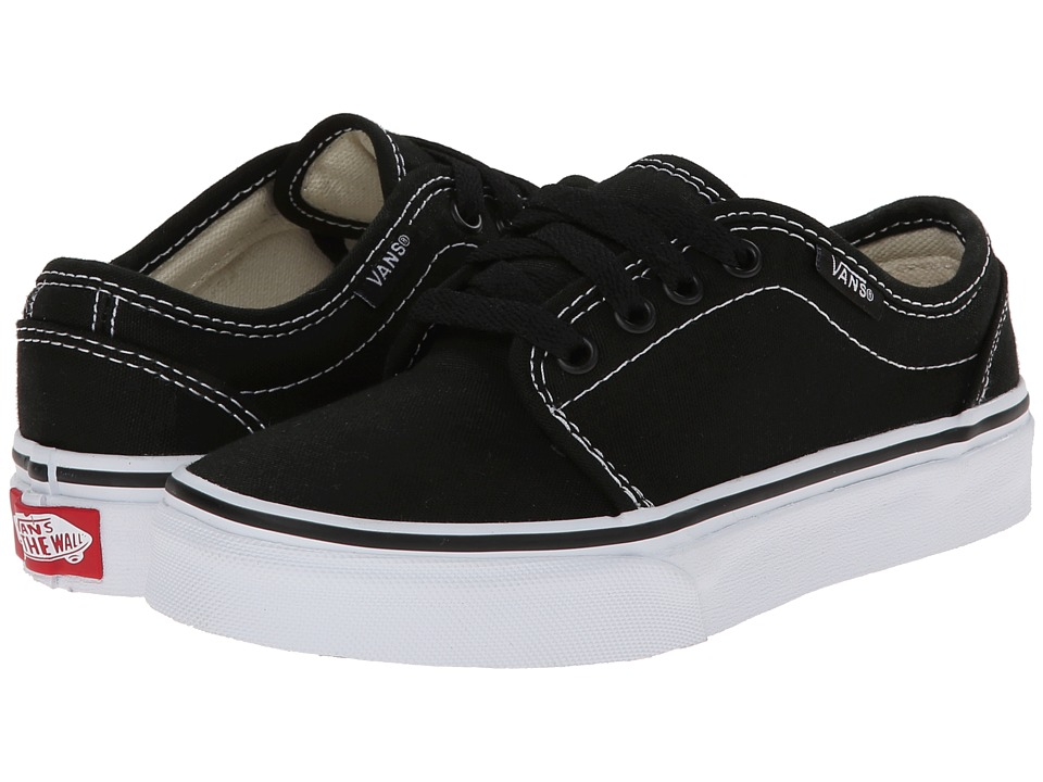 Vans Kids 106 Vulcanized Little Kid/Big Kid Black/True White Boys Shoes