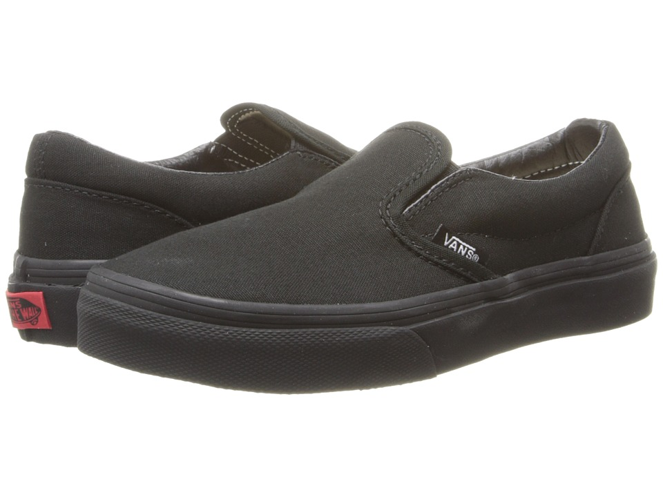 Vans Kids Classic Slip-On (Little Kid/Big Kid) (Black/Black) Kids Shoes