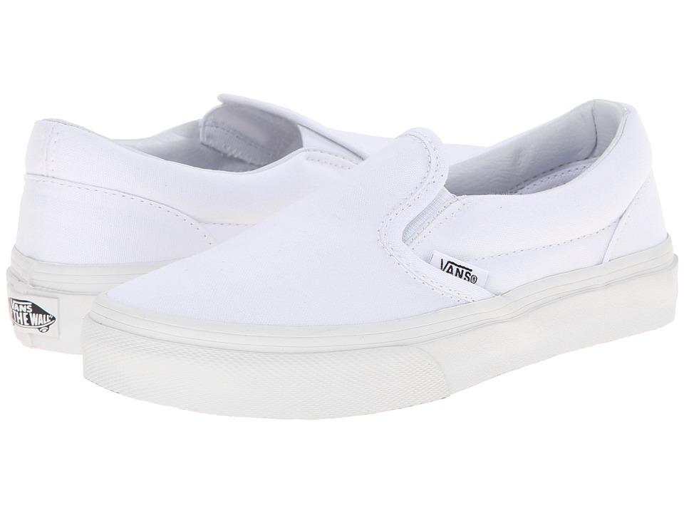 Vans Kids Classic Slip-On (Little Kid/Big Kid) (True White) Kids Shoes