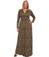Rachel Pally Plus - Plus Size L/S Full Caftan White Label Print