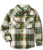 United Colors of Benetton Kids - Boys' Western Plaid Shirt w/ Buttons (Toddler/Little Kids/Big Kids)