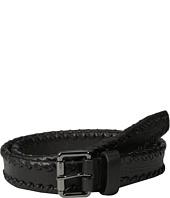 John Varvatos - 32mm Leather Laced Belt