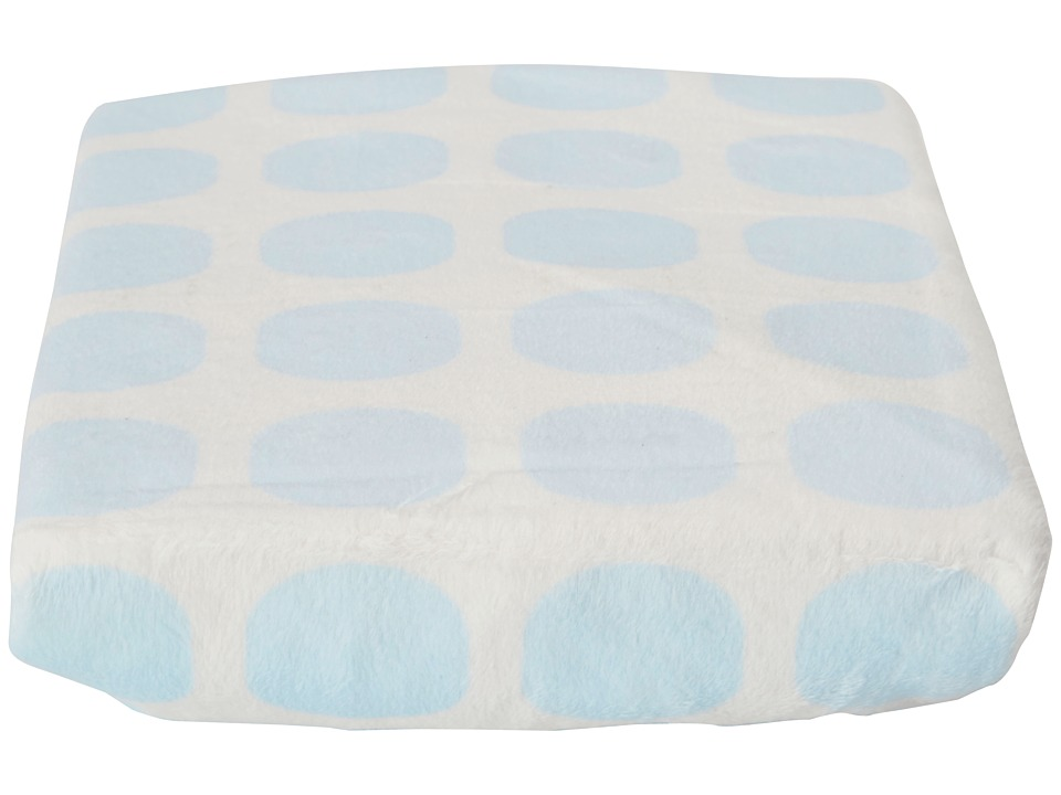 lolli LIVING Living Textiles Changing Pad Cover Blue Mod Dot Sheets Bedding