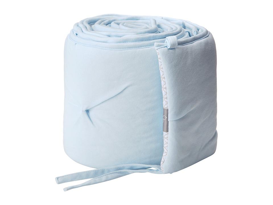 lolli LIVING Living Textiles Jersey Pintuck Bumper Blue/Skylar Sheets Bedding