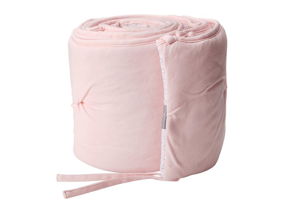 lolli LIVING Living Textiles Jersey Pintuck Bumper Pink/Koko Rose Sheets Bedding