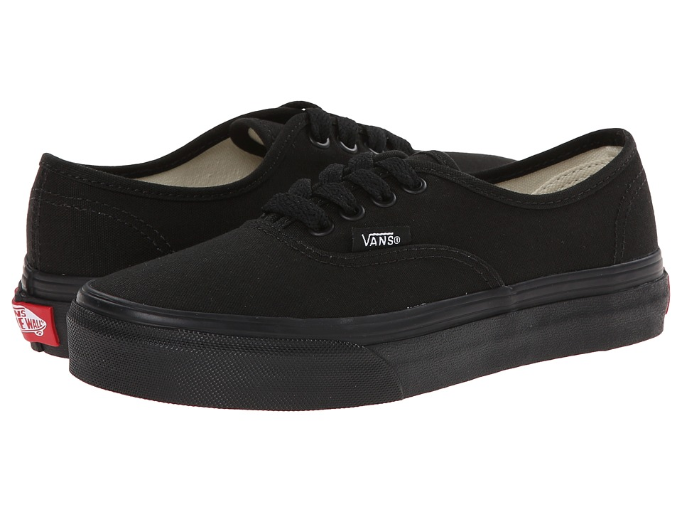 Vans Kids Authentic (Little Kid/Big Kid) (Black/Black) Kids Shoes