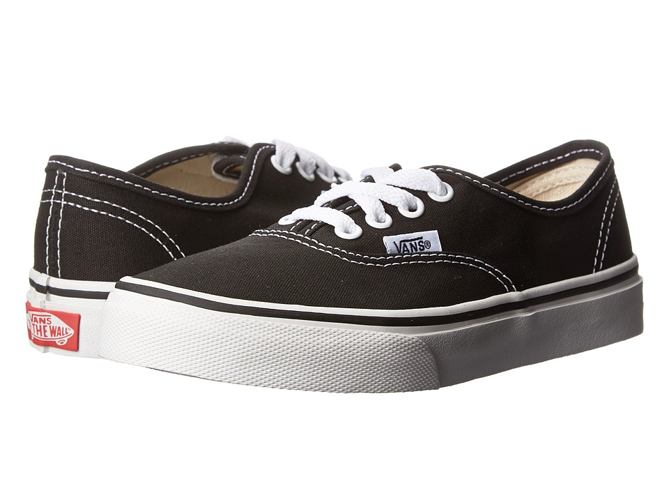 Vans Kids Authentic Little Kid/Big Kid Black/True White Kids Shoes