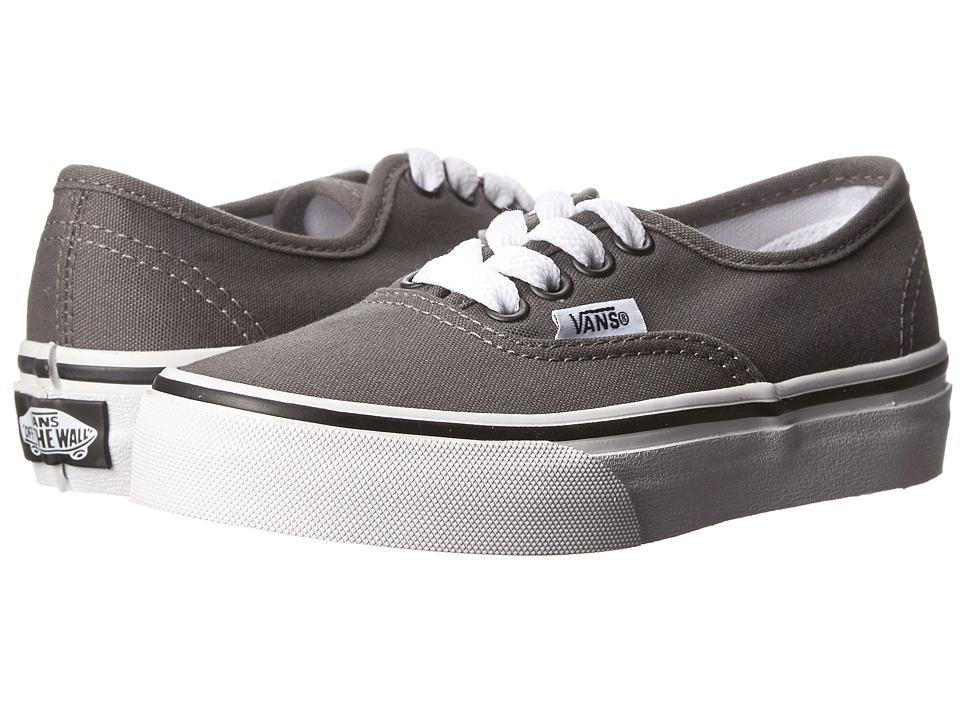 Vans Kids Authentic (Little Kid/Big Kid) (Pewter/Black) Kids Shoes