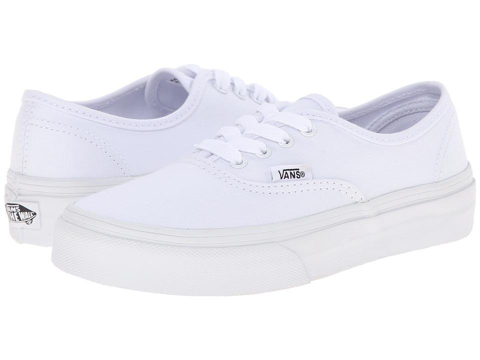 Vans Kids Authentic (Little Kid/Big Kid) (True White) Kids Shoes
