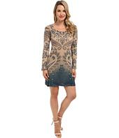 Nally & Millie - Printed Long Sleeve Sweater Dress