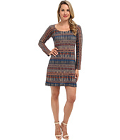 Nally & Millie - Printed Long Sleeve Swearter Dress