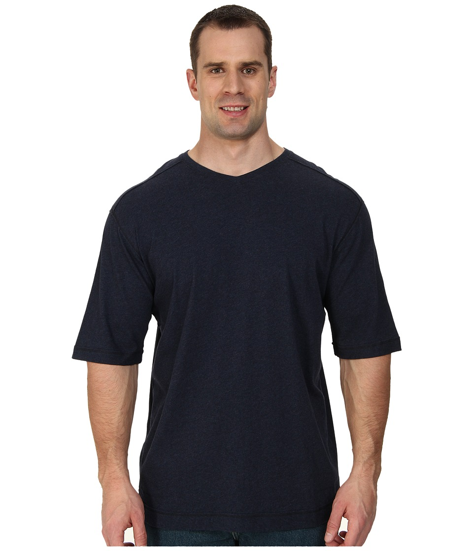 Tommy Bahama Big amp Tall Big Tall Cohen V Neck Indigo Heather Mens T Shirt