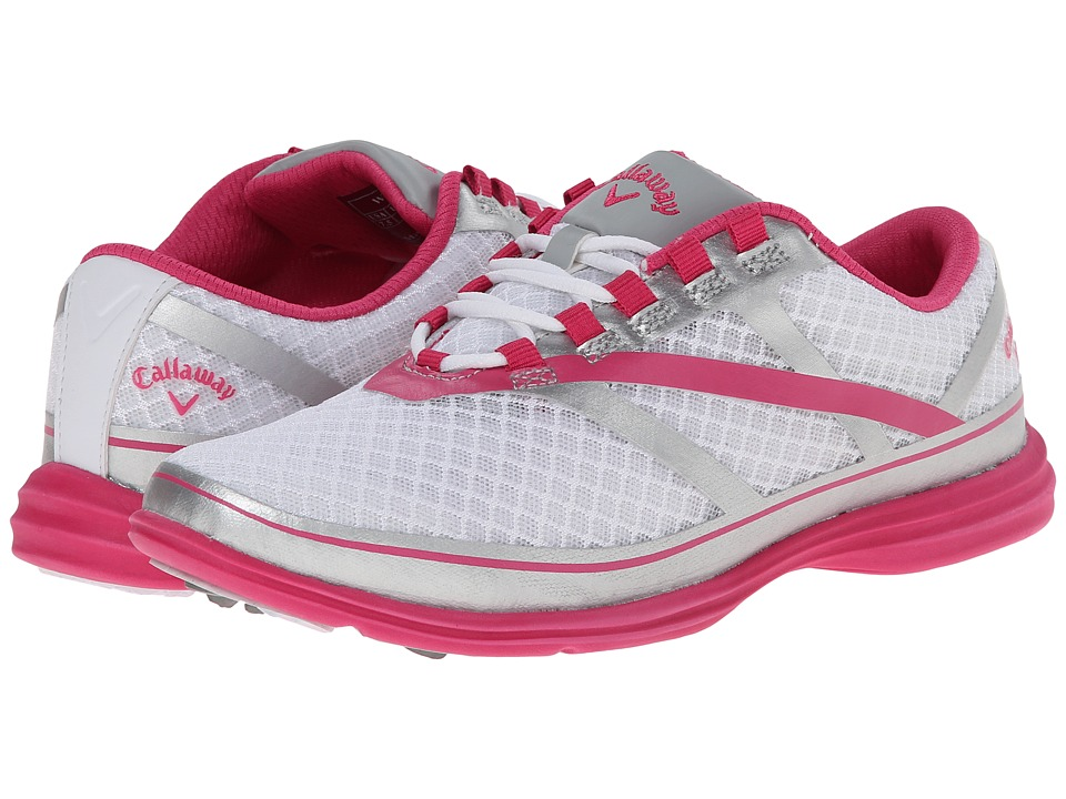Callaway Solaire SE White/Silver/Pink Womens Golf Shoes