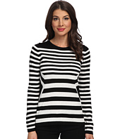 Calvin Klein - Striped Long Sleeve Knit Top