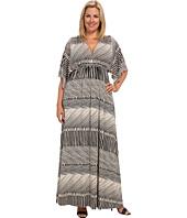Rachel Pally Plus - Plus Size Printed Long Caftan Dress White Label