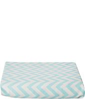 lolli LIVING - Aqua Cheveron Fitted Sheet