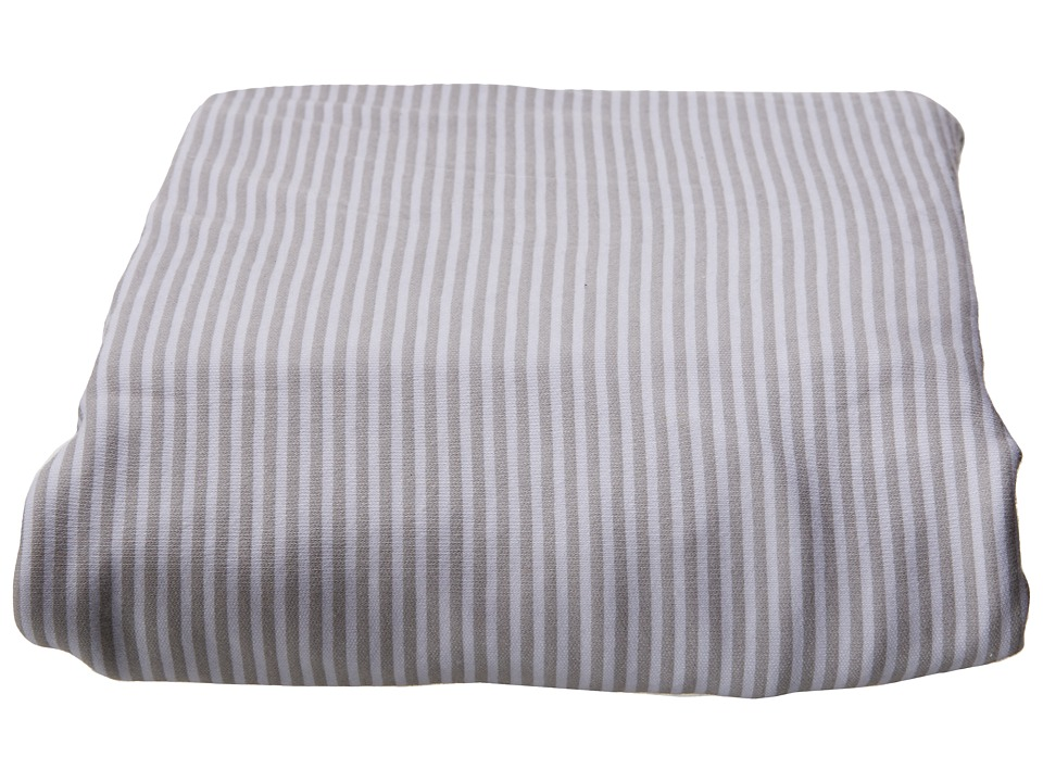 lolli LIVING Living Textiles Jersey Fitted Sheets Grey Stripe Sheets Bedding