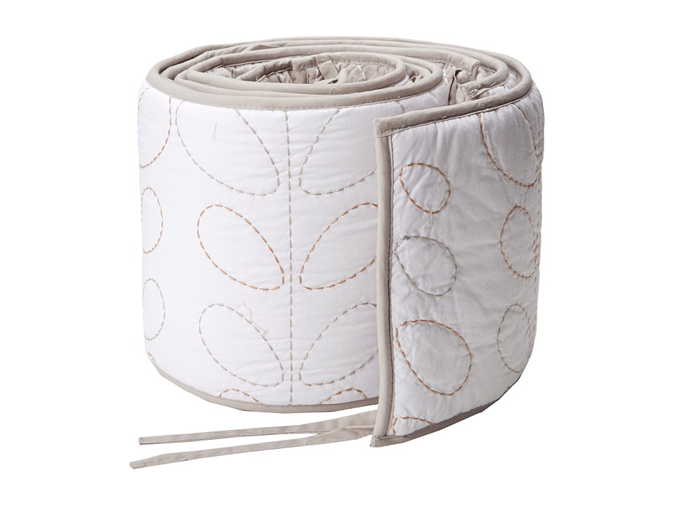lolli LIVING Living Textiles Cotton Poplin Qulited Bumper White/Grey Sheets Bedding