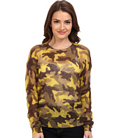 MICHAEL Michael Kors - Petite Long Sleeve Camouflage Mohair Sweater