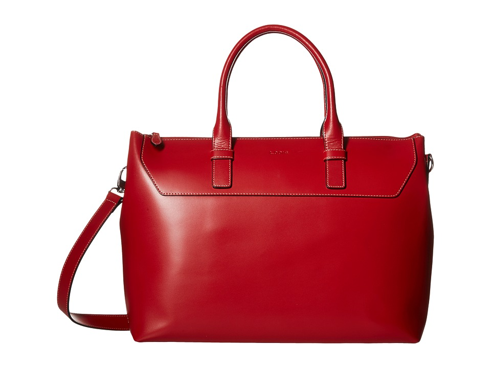 Lodis Accessories - Audrey Wilhelmina Work Satchel (Red/Black) Satchel Handbags