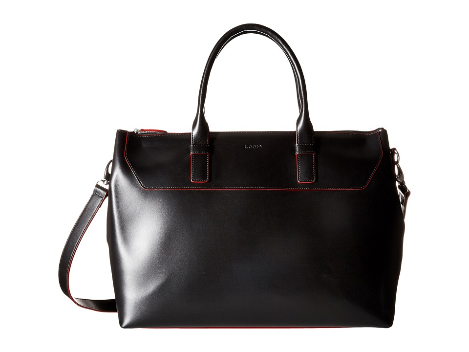 Lodis Accessories - Audrey Wilhelmina Work Satchel (Black/Red) Satchel Handbags