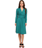 MICHAEL Michael Kors - Petite Long Sleeve Faux Wrap Dress