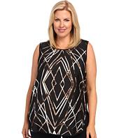 Vince Camuto Plus - Plus Size Modern Web S/L Shirttail Top