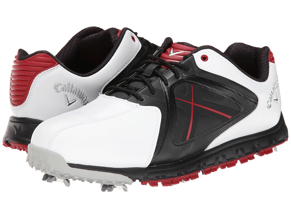 Callaway Xfer Sport White/Red Mens Golf Shoes
