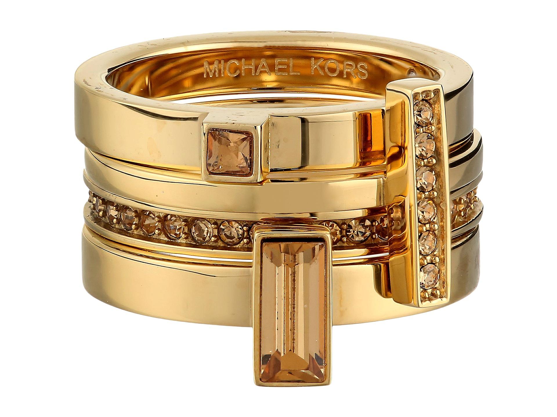 michael kors collection brilliance stackable rings. Black Bedroom Furniture Sets. Home Design Ideas