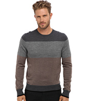 Culture Phit - 100% Merino Color Block Crew Sweater