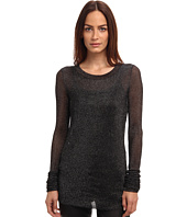 Vera Wang - L/S Metallic Ribbed Sweater