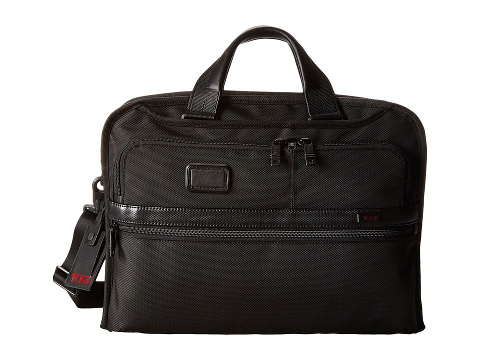 Tumi - Alpha 2 - Organizer Portfolio Brief (Black) Briefcase Bags