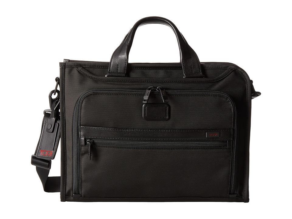 Tumi - Alpha 2 - Slim Deluxe Portfolio (Black) Briefcase Bags