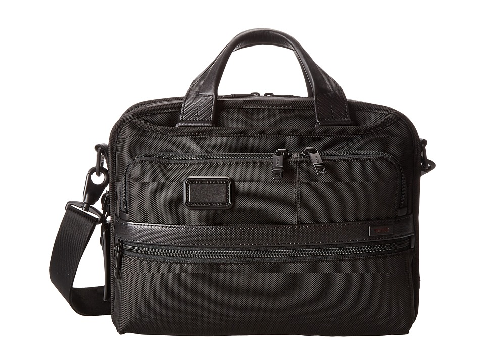 Tumi - Alpha 2 - Small Screen Expandable Laptop Brief (Black) Computer Bags