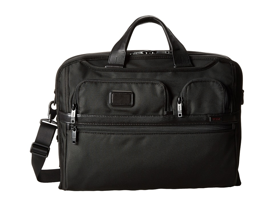 Tumi - Alpha 2 - Compact Large Screen Laptop Brief (Black) Computer Bags