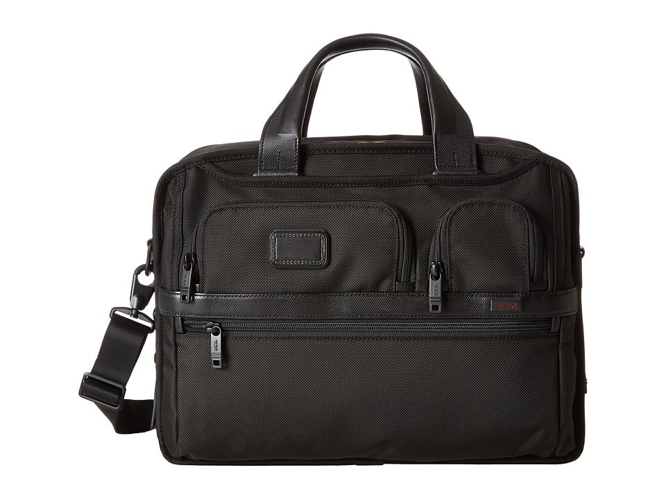 Tumi - Alpha 2 - Expandable Organizer Laptop Brief (Black) Computer Bags