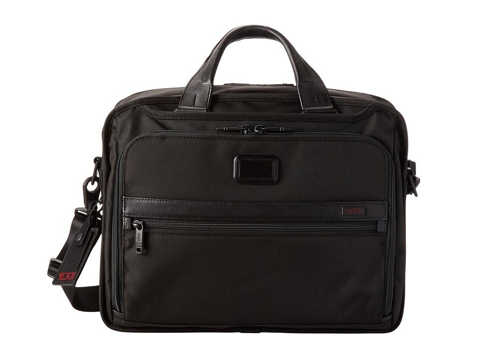Tumi - Alpha 2 - Organizer Brief (Black) Briefcase Bags