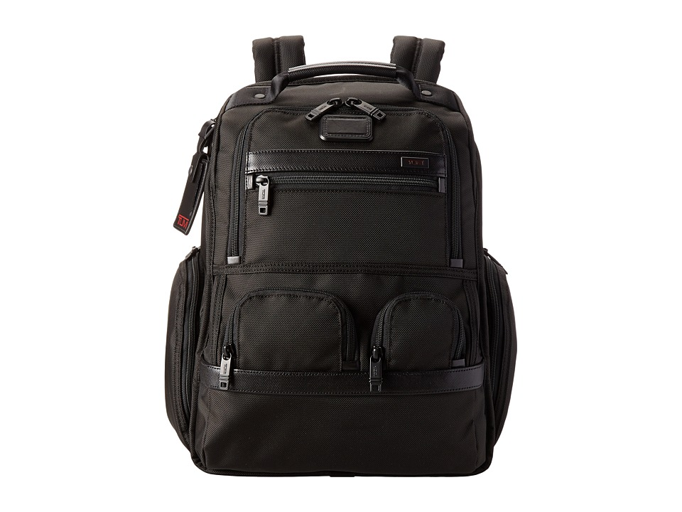 TUMI Alpha 2 - Compact Laptop Brief Pack (Black) Backpack...