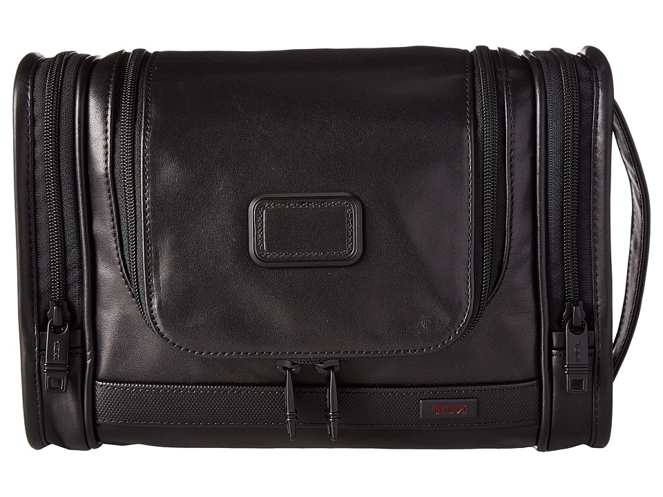 Tumi - Alpha 2 - Hanging Leather Travel Kit (Black) Travel Pouch