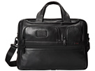 Tumi Alpha 2 Expandable Organizer Laptop Leather Brief (Black)