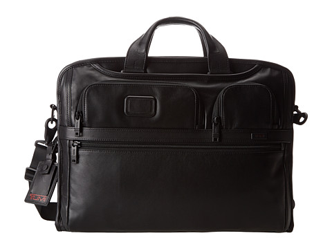 Tumi Alpha 2 - Compact Large Screen Laptop Leather Brief
