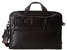Tumi Alpha 2 Compact Large Screen Laptop Leather Brief (Black)