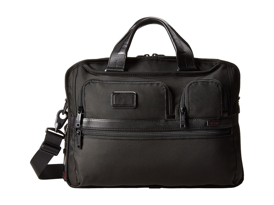 Tumi Tumi T-Pass Medium Screen Laptop Slim Brief (Black) Computer Bags