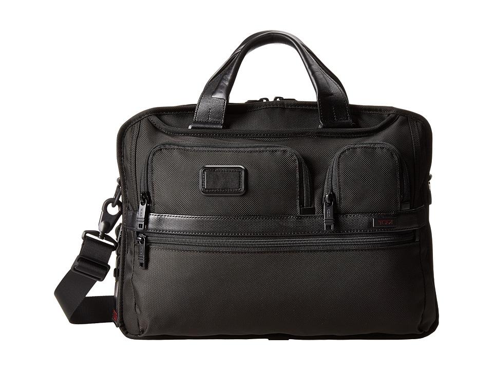 Tumi - Tumi T-Passtm Medium Screen Laptop Slim Brief (Black) Computer Bags