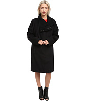 HELMUT LANG - High Collar Wool Coat