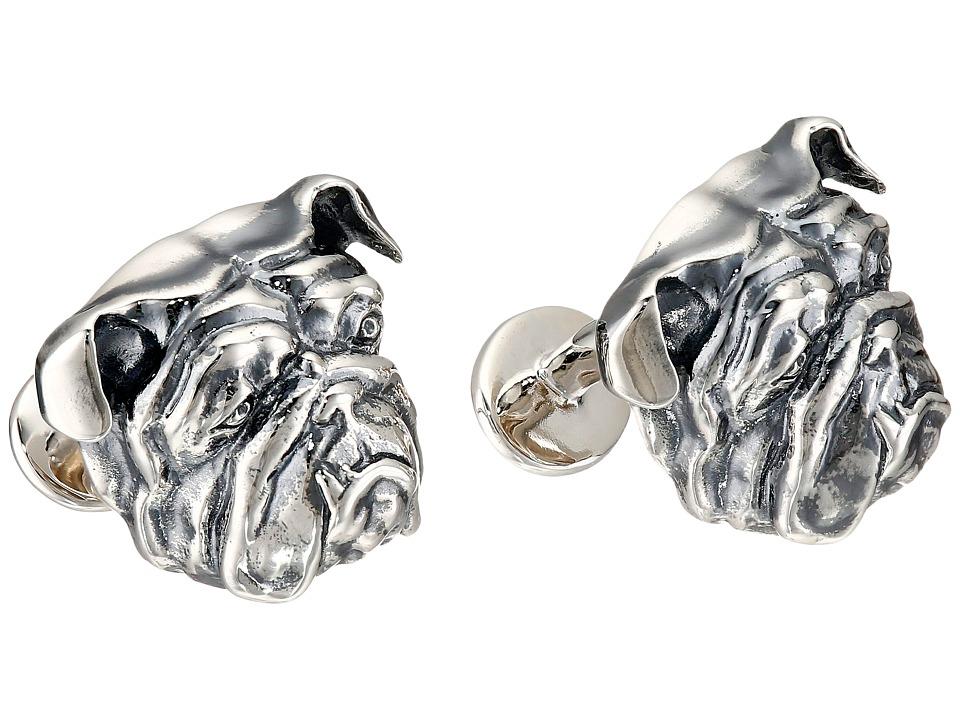Stephen Webster Bulldog Cuff Link Silver Bracelet