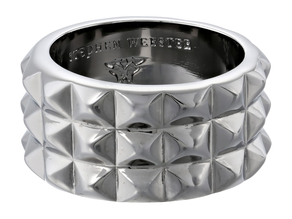 Stephen Webster Alchemy in the UK Collection Stud Ring Black Rhodium Ring