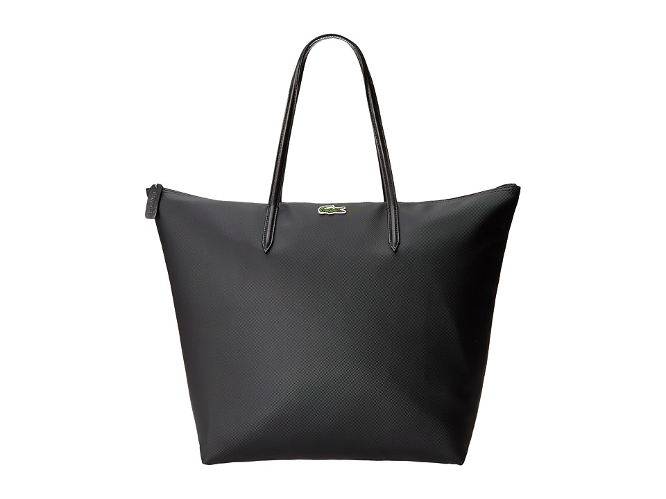 Lacoste - L1212 Concept Travel Shopping Bag (Black) Tote Handbags