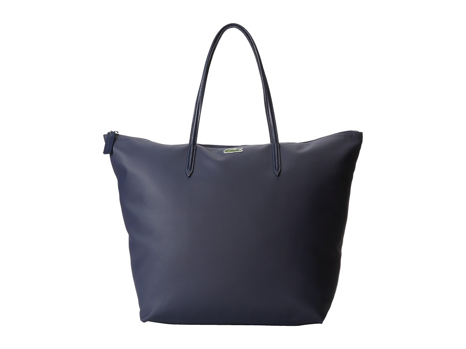 Lacoste - L1212 Concept Travel Shopping Bag (Shadow Blue) Tote Handbags