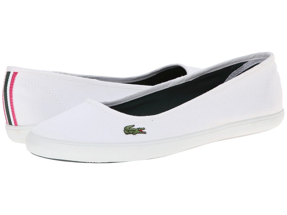Image of Lacoste Marthe CSD (White/White) Women's Slip on Shoes